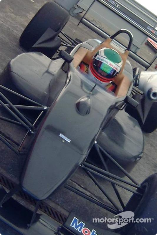 Team Avanti driver Matthew Gilmore having his first taste of the Ralt Mugen-Honda F302