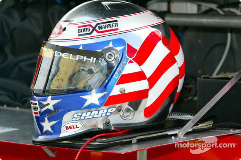 Scott Sharp's helmet