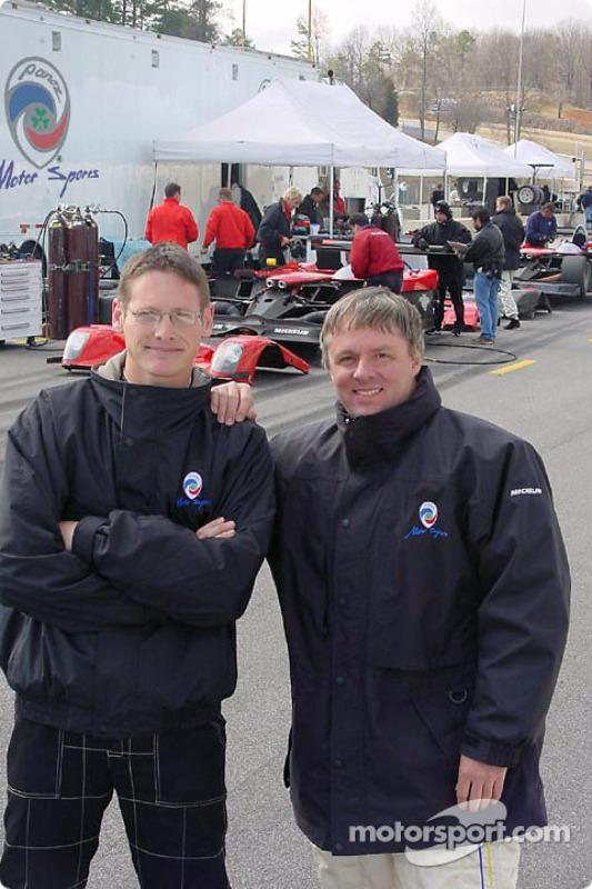 Panoz test driver Gunnar Jeannette with Wayne Jackson