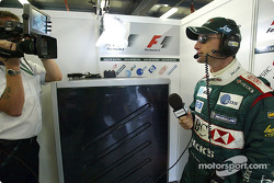 Eddie Irvine preparing his career on TV