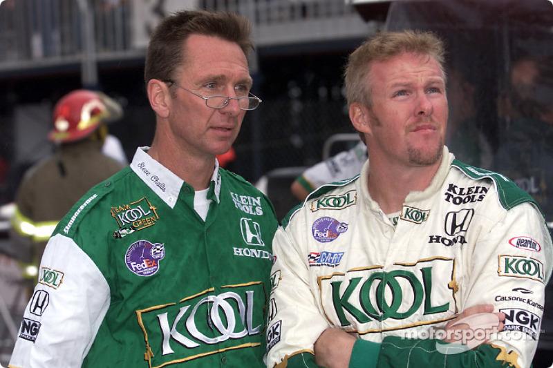 Steve Challis and Paul Tracy