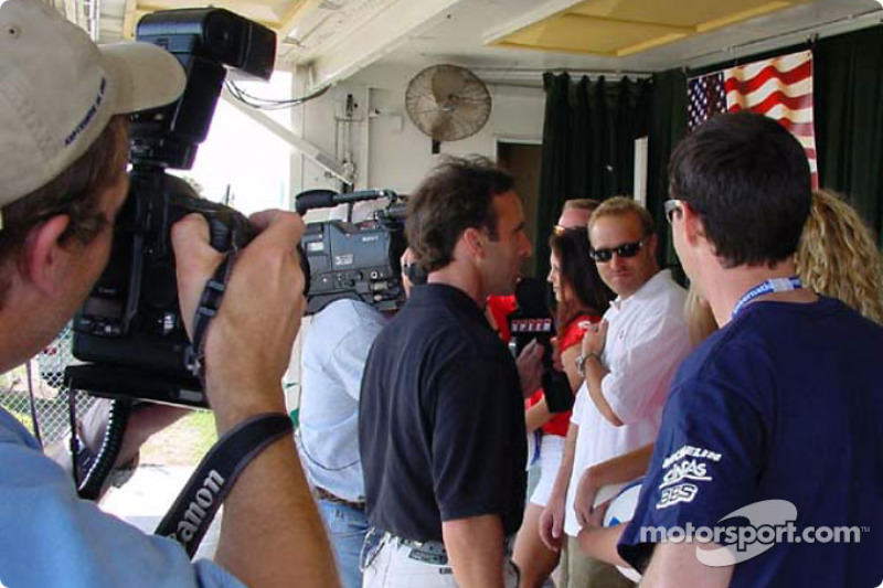 Interview time for the Panoz drivers