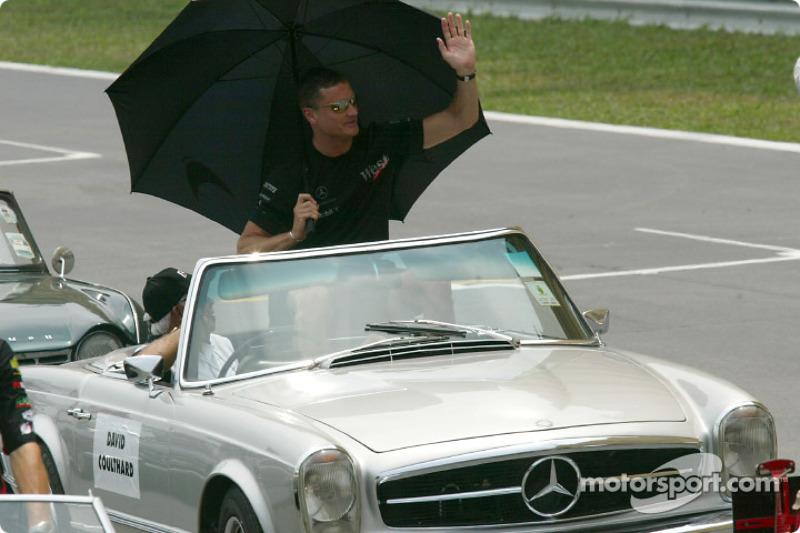 Drivers parade: David Coulthard