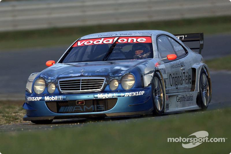 Peter Dumbreck driving the Mercedes-Benz CLK-DTM 2001, entered by the Original-Teile AMG-Mercedes team