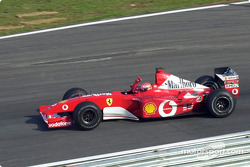 Victory lap for Michael Schumacher