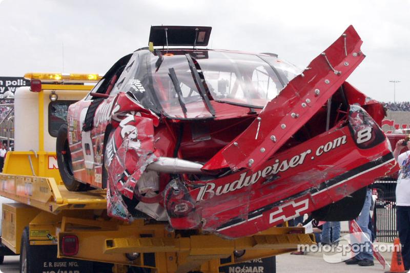 Dale Earnhardt Jr. damaged Chevrolet