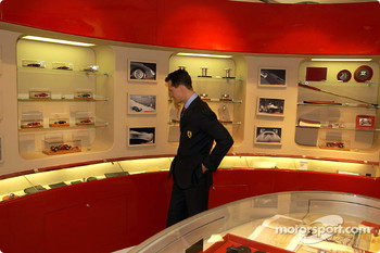 Official opening of Ferrari Store, Maranello: Michael Schumacher