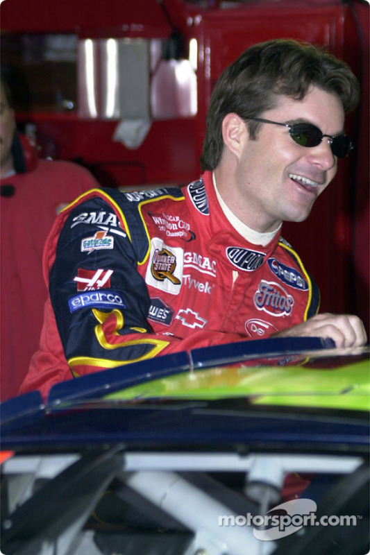 Jeff Gordon took the pole position