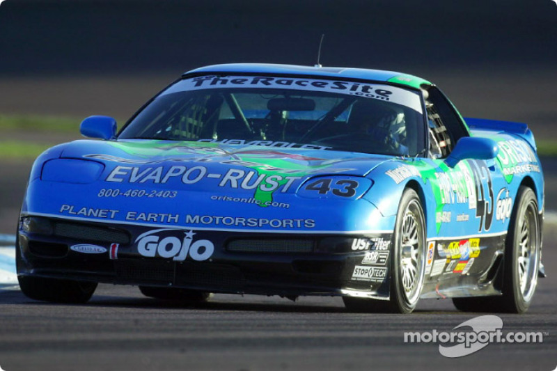 Shane Lewis post the fastest Grand Sport time in the #43 Planet Earth Motorsports Corvette