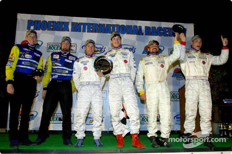 The pair of Villaconn International drivers joins the HRPworld.com #43 drivers on the overall podium of the UnitedAuto Touring 250