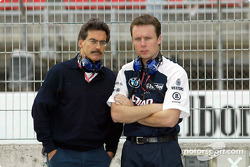 Dr Mario Theissen and Williams race engineer Sam Michael