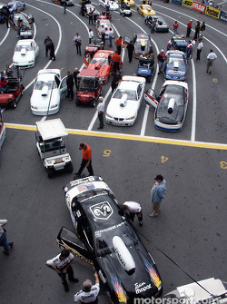 Pro Stock staging lane