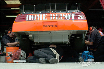 Working on Tony Stewart's car