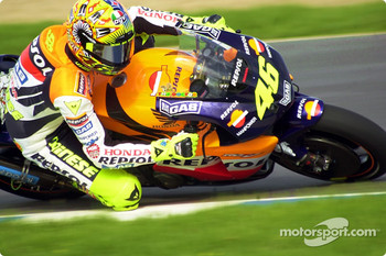 Valentino Rossi in Turn 1