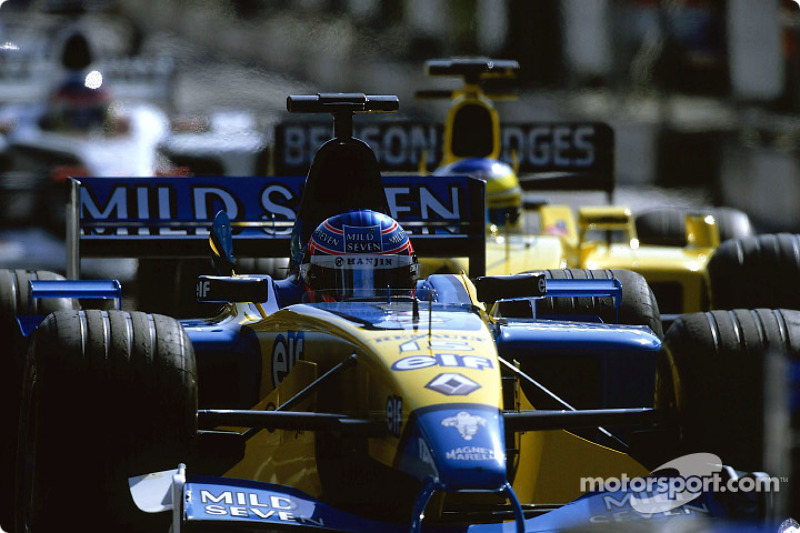Jenson Button at pit exit