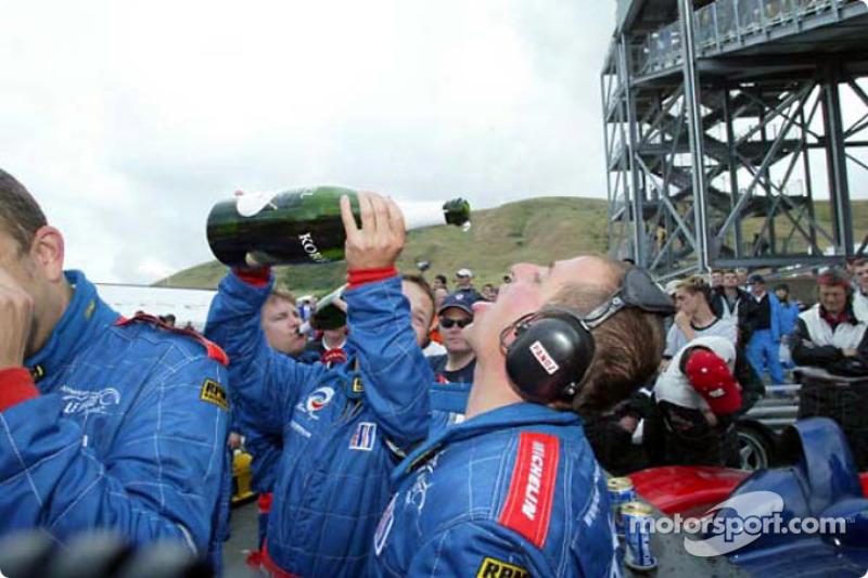 Team Panoz celebrating