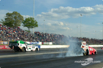 Bruce Sarver goes up in smoke and the race goes to Gary Densham