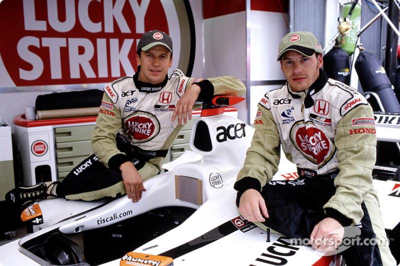 Olivier Panis and Jacques Villeneuve