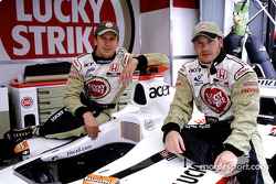 Olivier Panis and Jacques Villeneuve