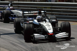 David Coulthard leading Juan Pablo Montoya