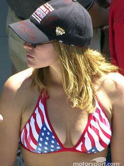 A patriotic fan…