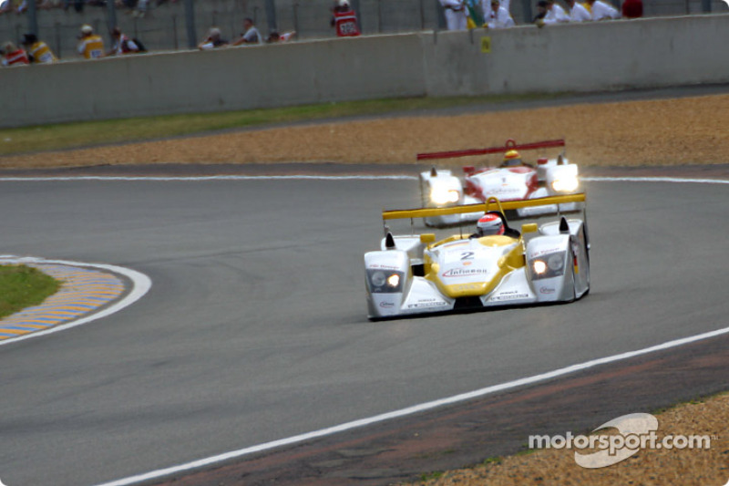 First lap: the Audis of Johnny Herbert and Frank Biela leading