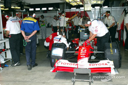 Team Toyota pit area