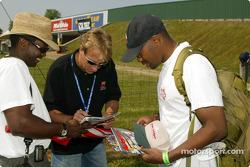 Frank Biela signing autographs