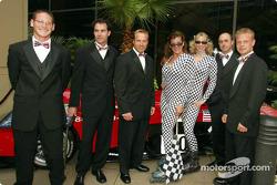 Stars and Stripes party in Washington: Gunnar Jeannette, Bryan Herta, Bill Auberlen, David Brabham and Jan Magnussen