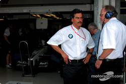 BMW Motorsport Director Dr. Mario Theissen with Board member for Development BMW Group Dr Burkhard Goeschel