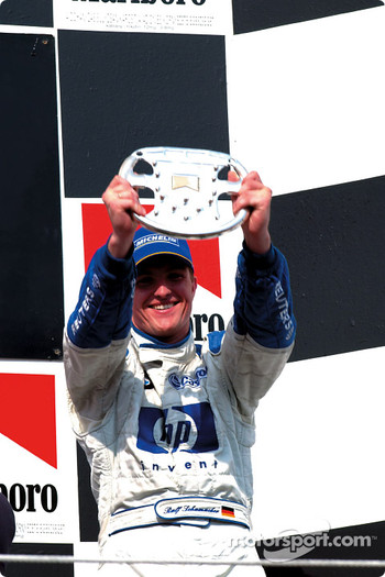 The podium: Ralf Schumacher