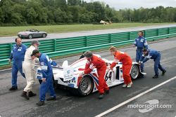Porsche-powered Lola wheeled to false grid