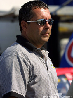 Kevin Lepage watching Winston Cup action