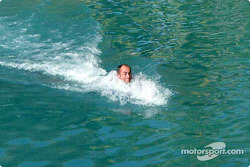 Swimming with dolphins: David Brabham