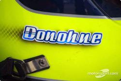 David Donohue's helmet