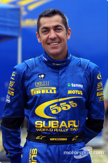 Toshi Arai's co-driver Tony Sircombe