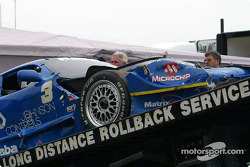 Paul Gentilozzi's wrecked car