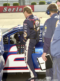 Rusty Wallace climbs in