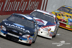 Mark Martin leads Jeff Burton
