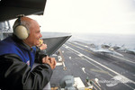 Gary Densham visits the aircraft carrier USS Carl Vincent