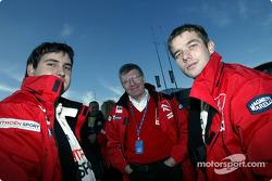 Daniel Elena, Jean-Claude Vaucard and Sébastien Loeb