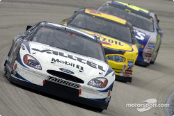 Ryan Newman leads Steve Park and Jimmie Johnson
