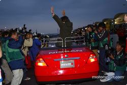 The ceremony of race legend Kazuyoshi Hoshino, retiring this year
