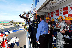 The podium: race winners Garth Tander, Steven Richards, Nathan Pretty and Cameron McConville