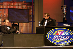The banquet had a talk show type of stage where a comic Tom Cotter asked questions about the season and also had some fun with the drivers
