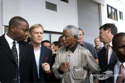 Nissan Rally Raid Team launch: Nelson Mandela and Ari Vatanen