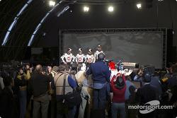 Jacques Villeneuve, Anthony Davidson, Takuma Sato and Jenson Button