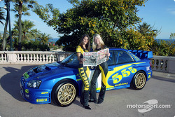 The lovely Pirelli girls during the photoshoot for the Subaru WRC 2003