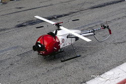The miniature helicopter with the camera
