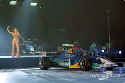Live performance at the Sauber Petronas C22 launch